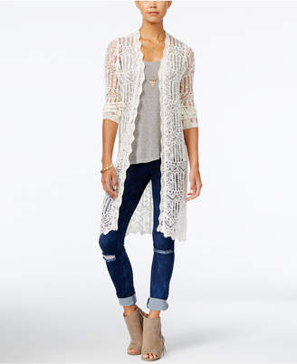 American Rag Crocheted Duster Cardigan, Created for Macy's $49.50 thestylecure.com