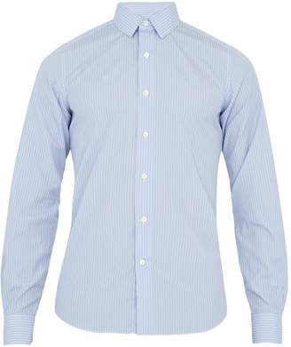 Valentino Single-cuff striped cotton shirt
