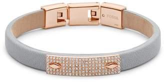 Fossil Diamond Plaque Bracelet