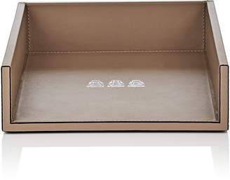 Connor Stackable Monkey-Motif Leather Paper Tray