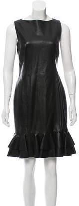 Ralph Lauren Sleeveless Leather Dress