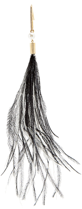 HILLIER BARTLEY Paperclip gold-plated feather earring
