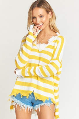 Show Me Your Mumu Delphina Distressed Sweater