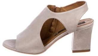 Alberto Fermani Leather Mid-Heel Sandals