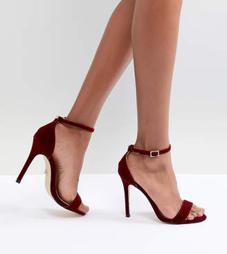Lipsy Velvet Barely There Shoes