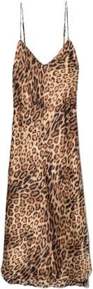 Nili Lotan Short Cami Dress in Ginger Leopard Print