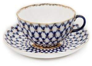 Imperial Porcelain Three-Piece Porcelain Saucer, Teacup and Plate Set