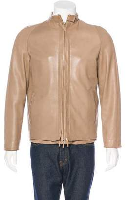 Burberry Double-Layer Leather Jacket