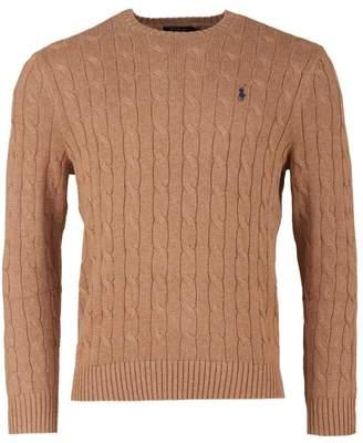 880c031c3 Polo Ralph Lauren Crew Neck Cable Knit Knit Colour  CAMEL