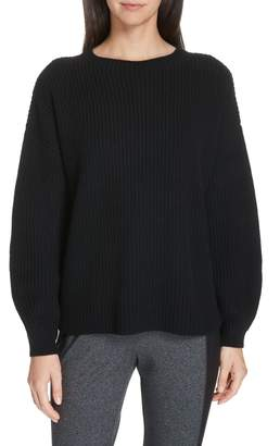 Eileen Fisher Crewneck Shaker Cashmere Sweater