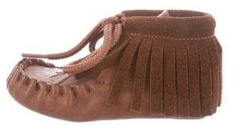 Tocoto Vintage Girls' Suede Moccasin Booties w/ Tags