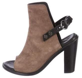 Rag & Bone Cutout Peep-Toe Ankle Boots