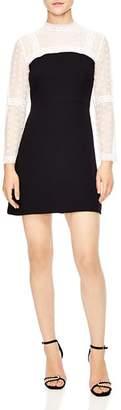 Sandro Sublime Mixed Media Mini Dress