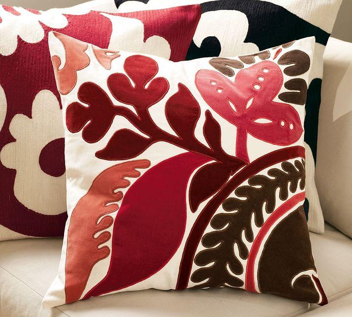 Velvet Applique Pillow Cover