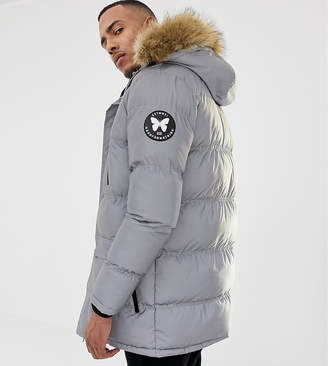 Asos Good For Nothing parka coat in reflective exclusive to