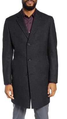 BOSS Stratus Trim Fit Wool Blend Top Coat