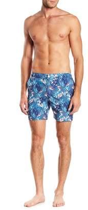 Trunks Mosmann Australia Del Mar Tropical Floral Print Swim Shorts