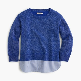 Girls' sparkly popover sweater with shirttail $69.50 thestylecure.com