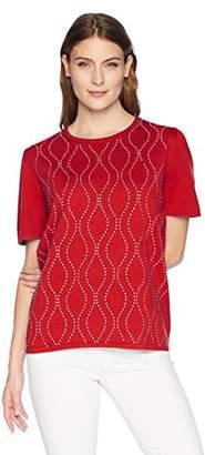 Alfred Dunner Alf Dunner Women's Vertical Waves Sweater