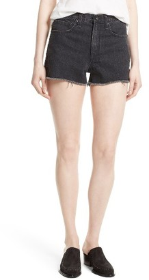 Women's Rag & Bone/jean Justine High Waist Cutoff Denim Shorts $175 thestylecure.com
