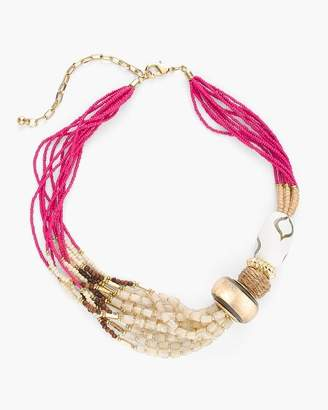 Pink Multi-Strand Bib Necklace
