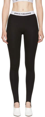 Paco Rabanne Black Elasticized Stirrup Leggings