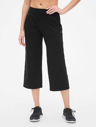 Gap GapFit Studio Wide-Leg Crop Pants in Eclipse
