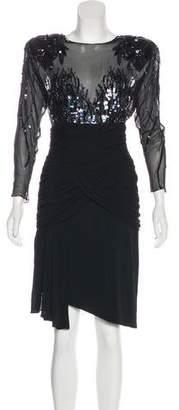 Casadei Embellished Knee-Length Dress