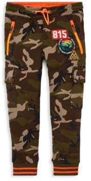 Ralph Lauren Boy's Army Print Patch Jogging Pants