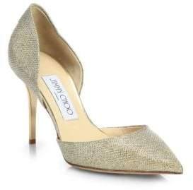 Jimmy Choo Addison 80 Glitter Lamé d'Orsay Pumps