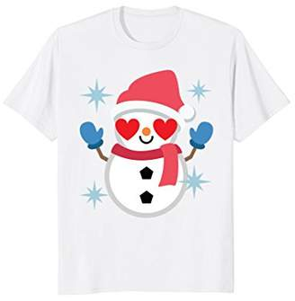 Snowman Heart Eye Shirt T-Shirt Winter Snow Tee