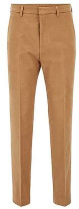 HUGO BOSS Slim-fit cropped trousers in stretch cotton