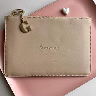 Nest Personalised 'La Vie En Rose' Hint Of Pink Pouch