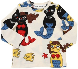 Mini Rodini Cat Mermaid Printed Modal T-Shirt