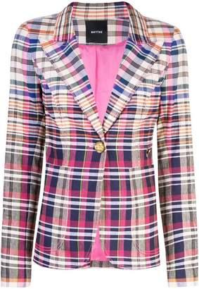 Smythe check fitted blazer