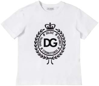 Dolce & Gabbana Logo Crest Cotton Jersey T-shirt