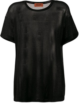 Missoni sheer panel T-shirt
