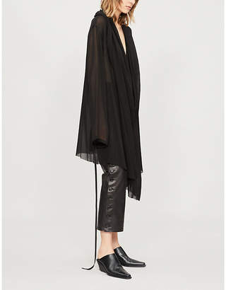 Ann Demeulemeester Oversized chiffon knee-length dress