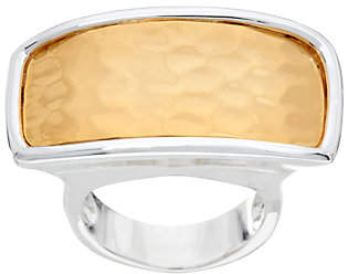 Robert Lee Morris RLM Jewelry by RLM Bronze Two Tone Hammered Rectangle Ring