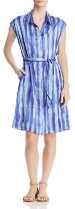 Kenneth Cole Tie-Dye Stripe Shirt Dress