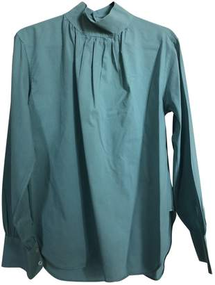 Officine Generale Turquoise Cotton Top for Women