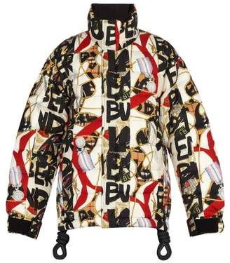 Burberry - Down Filled Graffiti And Archive Print Jacket - Mens - Black Multi