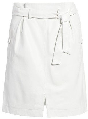 Women's Topshop Leather Paperbag Miniskirt $180 thestylecure.com