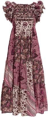Ulla Johnson Zoya Patchwork Print Dress