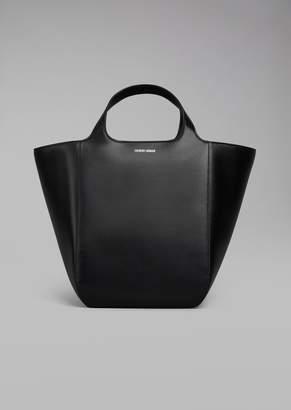 Giorgio Armani Plain Leather Shopper Bag