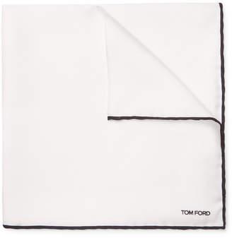 Tom Ford Colour-Block Silk-Twill Pocket Square