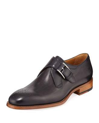 Magnanni Men's Pontevedra Monk-Strap Dress Shoe