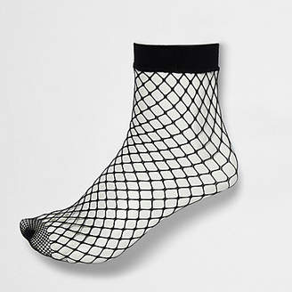 River Island Black wide fishnet ankle socks