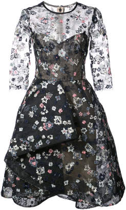 Monique Lhuillier embroidered Illusion dress