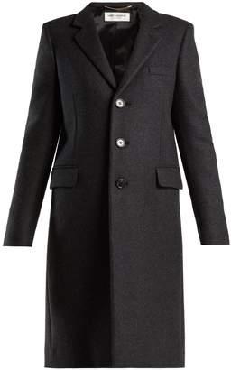 Saint Laurent Notch-lapel single-breasted wool coat